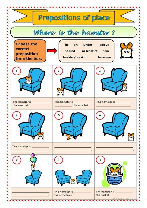 preschool prepositions prepositions of place worksheet free esl printable 900