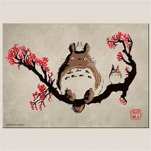 dessin totoro affiche miyazaki t shirt parodieboutique With affiche chambre bébé avec tee shirt a fleur