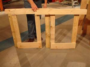 How to Make a Fold-Down Workbench how-tos DIY