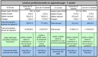 cout d un contrat de mariage salaire et coût d un alternant en licence pro apprenti ou contrat de pro licence pro