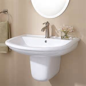 burgess porcelain wall mount semi pedestal sink bathroom
