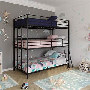 Dhp, Metal, Triple, Bunk, Bed, Twin, Twin, Twin, Bed, For, Kids, Multiple, Options, Available