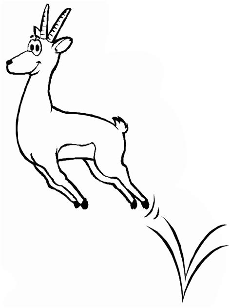 printable gazelle animals coloring pages