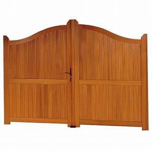 Lapeyre Portail Bois : portail battant bois roquebrune ext rieur ~ Premium-room.com Idées de Décoration