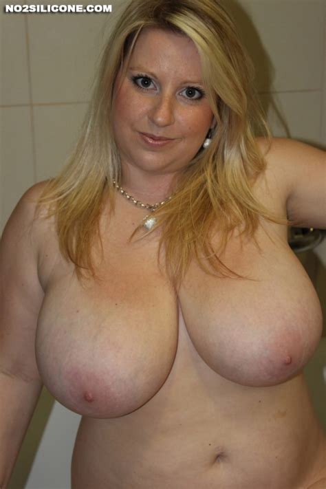Curvy Natural Blonde Wife In The Bathroom