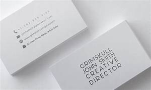 Minimalist white business card template by nik1010 on for White business card template