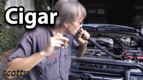 find vacuum leaks   cigar life hack youtube