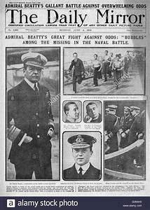 1916 Daily Mirror Front Page Battle Of Jutland Stock Photo