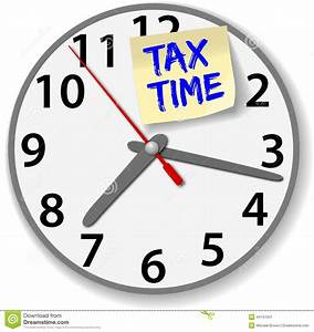 Tax Time Clock Taxes Due Date Stock Vector - Image: 44747031