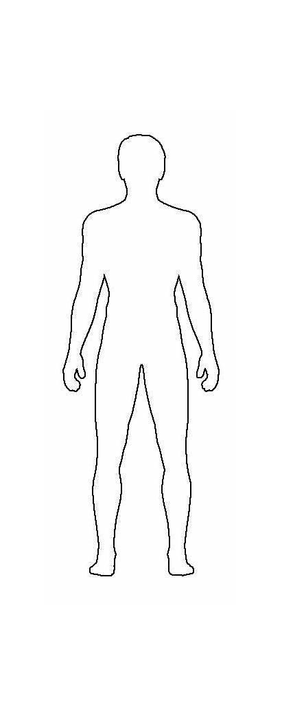 Template Male Templates Costume Outline Blank Sketch