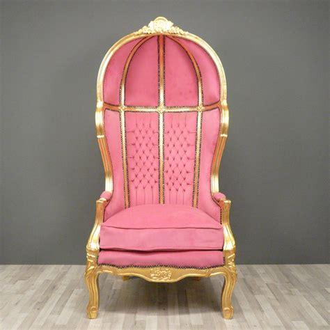 fauteuil baroque carrosse rose chaises