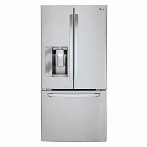 Lg Lfxs24623s 33 In  24 2 Cu  Ft  French Door Refrigerator In Stainless Steel