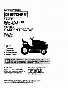 Craftsman Lawn Mower 917 275031 User Guide