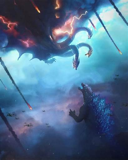 Godzilla Monsters King Poster Wallpapers Background Movies