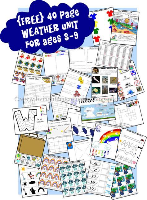 free weather unit printables pre k 4th free homeschool