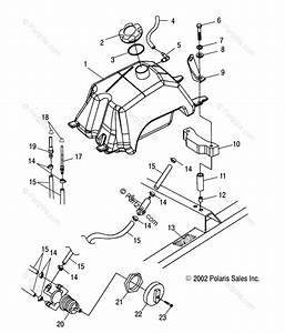 Polaris Atv 2003 Oem Parts Diagram For Fuel Tank