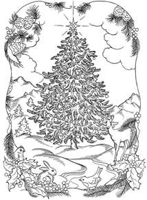 christmas tree coloring pages for adults 2017 dr odd