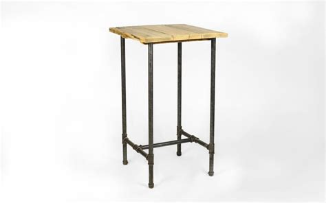 square high bar table 2 seater steel roots design