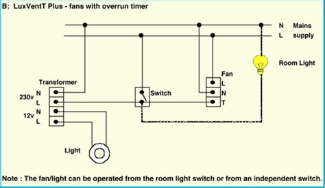 extractor fan wiring diagram with timer somurich