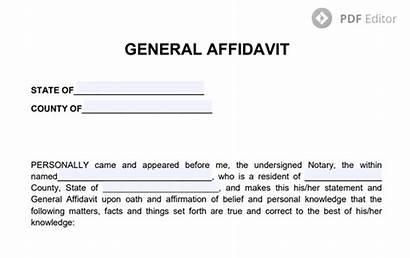 Form Template Pdf Affidavit General Statement Notarized