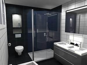 Salle De Bain Noire Et Blanche : salle de bain noir et blanc design awesome salle de bain ~ Melissatoandfro.com Idées de Décoration