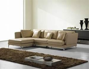 le canape d39angle en cuir 60 idees d39amenagement With tapis chambre bébé avec canape angle salon