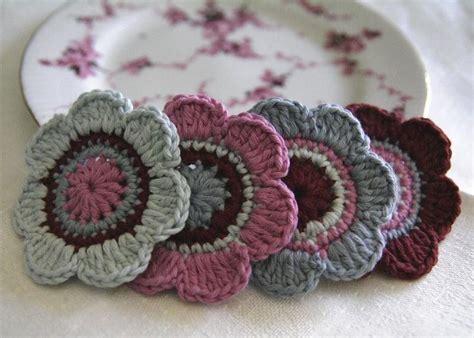 fiori di cotone all uncinetto pdf crochet pattern set of 4 pcs organic cotton crochet