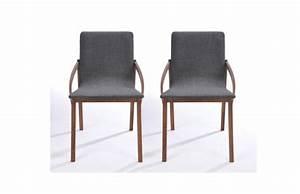 Chaise Bois Pas Cher : chaise design bois et tissu gris lot de 2 karo chaises miliboo ventes pas ~ Teatrodelosmanantiales.com Idées de Décoration