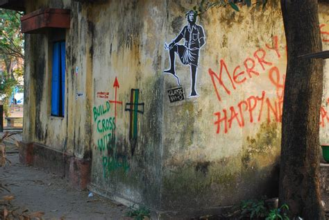 Guess Who? Anonymous Artist Paints Graffiti In Kochi-india