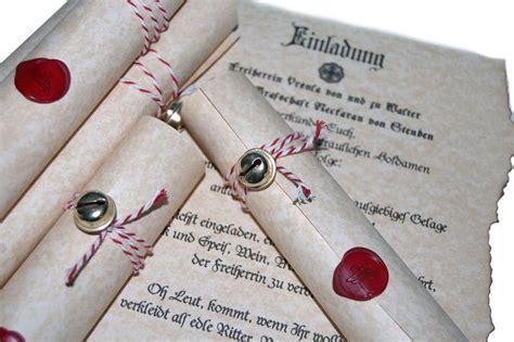 auftragsarbeit einladungskarten thema mittelalter