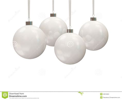 white christmas balls stock photos image 22810803