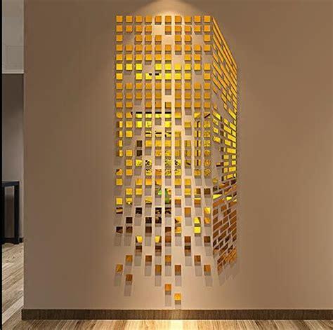 acrylic cube  stereoscopic mosaic mirror wall stickers