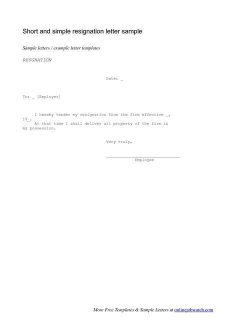 Short And Simple Resignation Letter from tse3.mm.bing.net