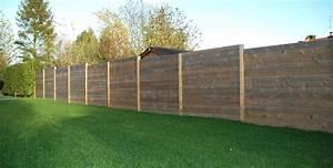 Palissade bois : atouts et prix d'une palissade en bois Ooreka