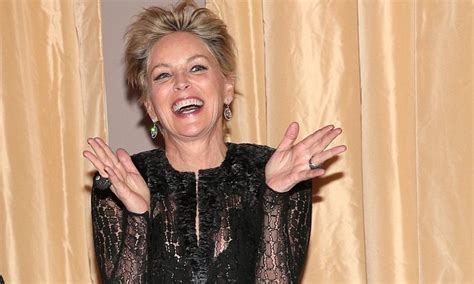 sharon stone  wears gown  sheer skirt  gala