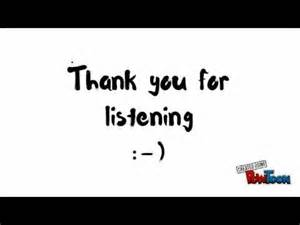Animated Thank You for Listening