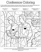 Lds Coloring Pages Primary Clipart Conference General Numbers Missionary Games Children Activity Activities Clipground Falls sketch template