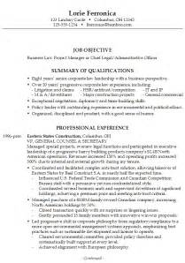 resume for administrative officer position resume chief business admin susan ireland resumes