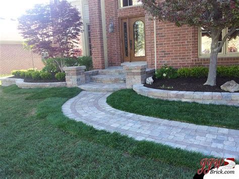 front yard paver designs simple front yard landscaping ideas for home in shelby twp mi brick paver porch and pillars