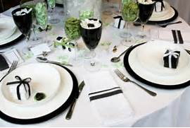 Table Decorations Black And White Theme Reception Decor Featuring Black And White Table Setting
