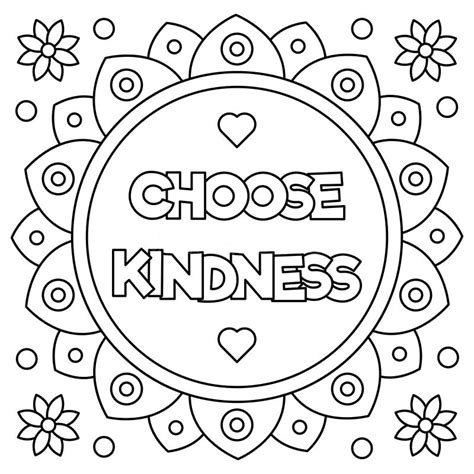 quote kindness coloring pages print coloring