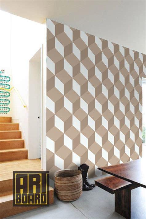 illusion cubes  adhesive diy wallpaper home