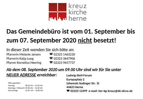 Ansprechpartner : Evangelische Kreuz-Kirchengemeinde Herne
