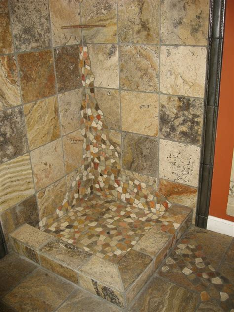 river rock tile for bathroom bathroom tile