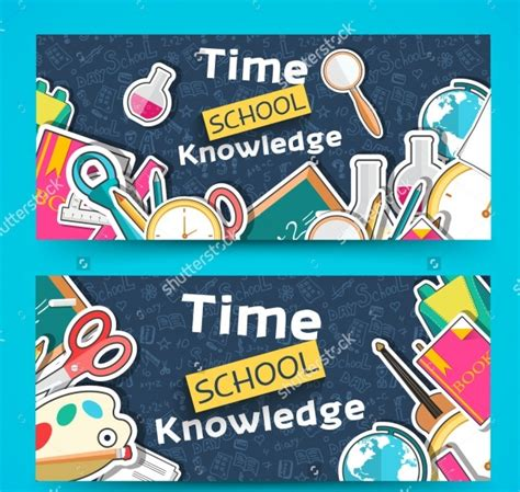 creative school banner designs ideas  psd ai