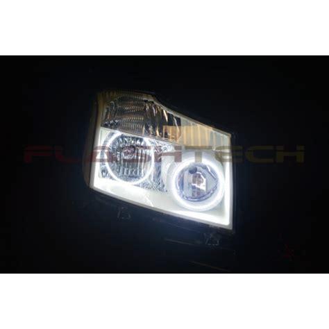 flashtech white led headlight halo kit for nissan titan