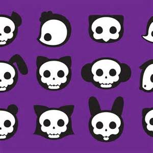 Cute Cartoon Skulls