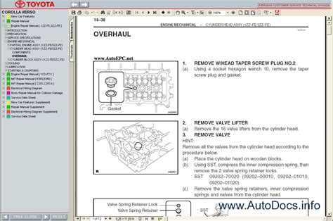toyota corolla verso   service manual repair