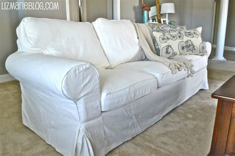 white slip covered sofa new white slipcover ikea couches liz marie blog