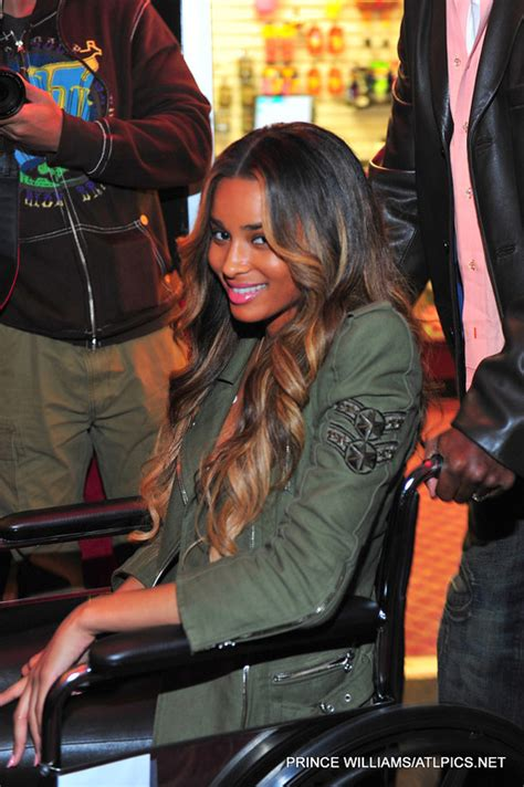 ciara spotted  wheelchair  charity skating event